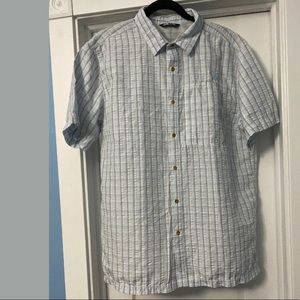 North Face, Short Sleeve Button Up Shirt, Large